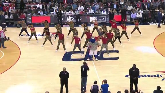 Wizards Dancers Veterans Day - 11/13/18