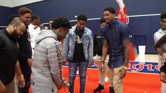 Bradley Beal Ron Brown HS Roundtable Discussion and Bowling Event