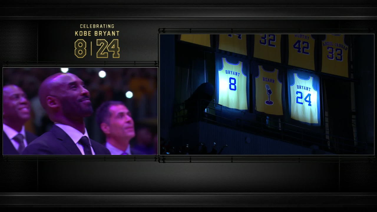 Kobe s Jersey Retirement Ceremony  Kobe s Jerseys Retired  30015fc89